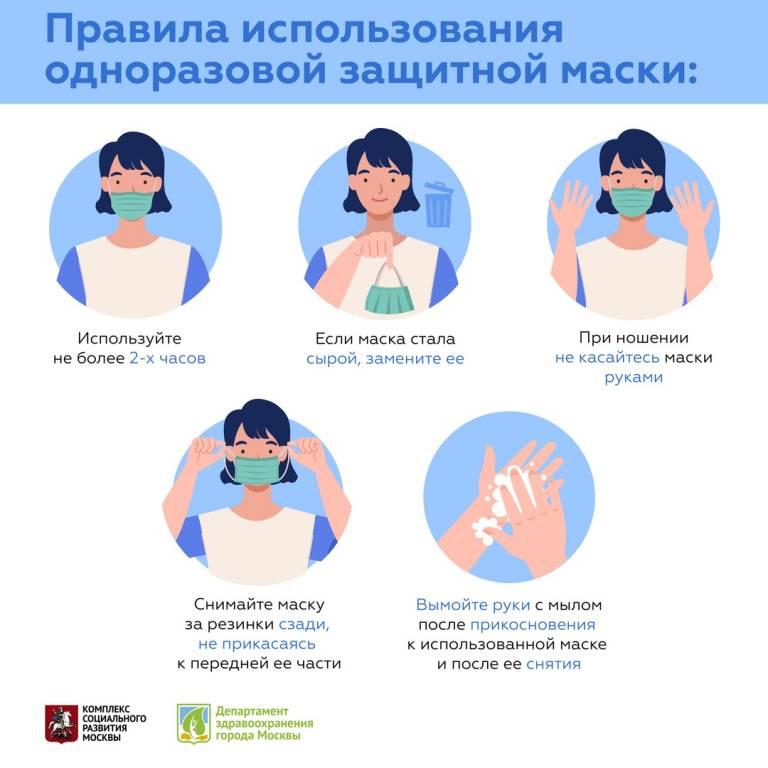Поликлиника № 134: как правильно носить маску и перчатки